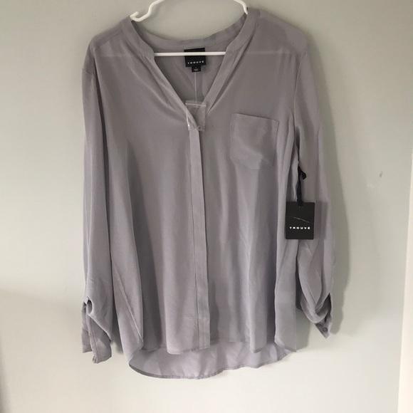 5e9c756455a050 Trouve silk blouse